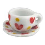 HEART TEA CUP AND SAUCER