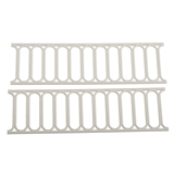 "2-Pc. White ""Iron Works"" Modern Fencing Set"