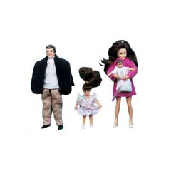 Modern Doll Family with Brunet Hair