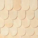 Unfinished Whitewood Fishscale Shingles