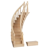 Assembled Right-Curve Staircase