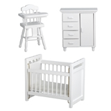 3-Pc. White Nursery Set
