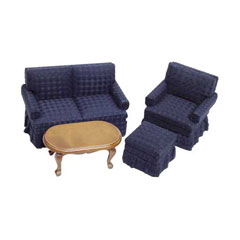 4-Pc Midnight Blue Living Room Set