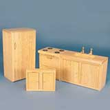 4-Pc Oak Kitchen Set