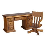2-Pc Traditional Desk & Chair Set
