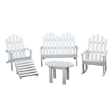 Five Piece White Adirondack Furniture Set