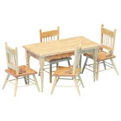 5-Pc. Oak Dining Set