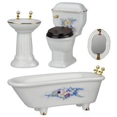 4-Pc Ornate Bath Set
