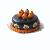 Chocolate Pumpkin-Topped Cake
