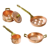 5-Pc Copper Pot Set