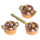 6-Pc Copper Pot and Pan Set