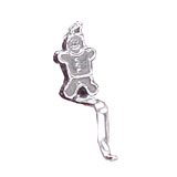 Gingerbread Man Sterling Silver Stocking Holder