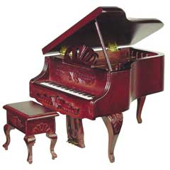 Louis XV-Look Grand Piano with Stool