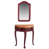 Marble Top Hall Table and Mirror
