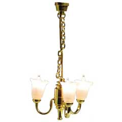 3-Arm Tulip Chandelier