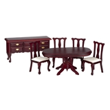 6-Pc Mahogany Dining Room Set