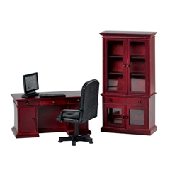 4-Pc. Mahogany Benjamin Desk Set