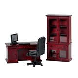 4-Pc Mahogany Benjamin Desk Set
