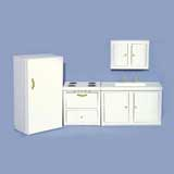 4-Pc White Kitchen Set