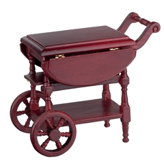 Mahogany Drop-leaf Tea Cart