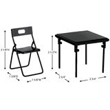5-Pc.  Black Metal Folding Table & Chairs Set