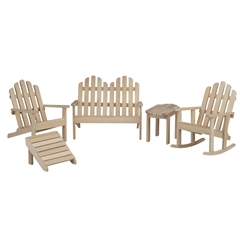 5-Pc Unfinished Adirondack Furniture Set