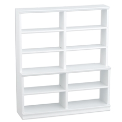 Large White Open-Back Shelving Unit