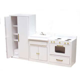 3-Pc White Traditional Kitchen Set