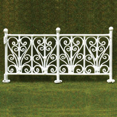 6-Pc Wrought Iron Fence