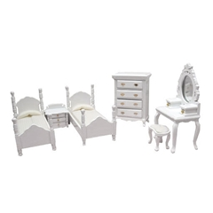 6-Pc White Twin Bedroom Set