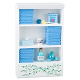 Bathroom Shelf w/Blue Accessories