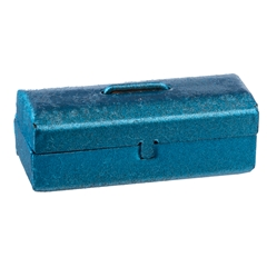 Metallic Blue Tool Box