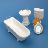 4-Pc White Bath Set