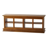 Walnut Countertop Display Cabinet