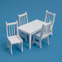 5-Pc White Dining Set