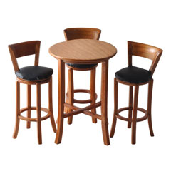 4-Pc Round Pub Table Set