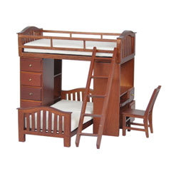 Students' Walnut Bunkbed Loft