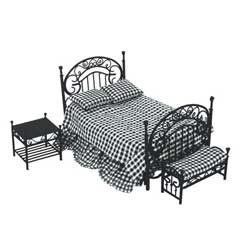 Ornate Black Iron Bedroom Set