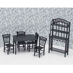 1/2 inch Scale 6-Pc. Seagrove Dining Set