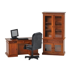 4-Pc. Walnut Benjamin Desk Set