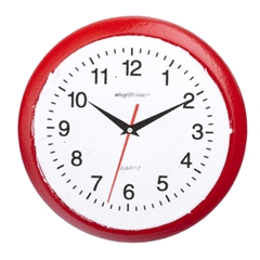 Round Red Wall Clock