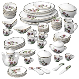 50 Piece Blushing Blossoms Table Setting