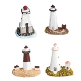 4 MINI LIGHTHOUSES