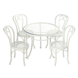 5-Pc Patio Table & Chairs Set