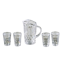 Pitcher & Four Glasses
