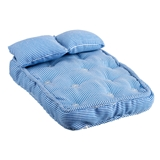 3-Pc. Blue Ticking Mattress Set
