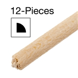 12 Pieces of 1/8 inch Quarter Round Moulding 24 inch L