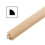 One Piece  of 1/8 inch Quarter Round Moulding 24 inch L