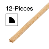 12 Piece of 1/16 inch Quarter Round Moulding 24 inch L
