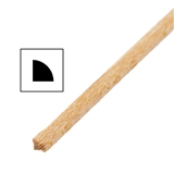 One Piece of 1/16 inch Quarter Round Moulding 24 inch L